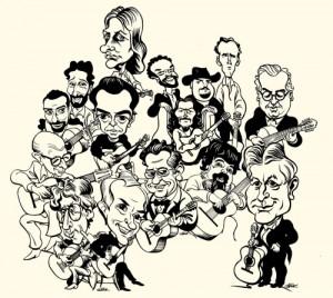 compilation caricatures new 300x268 نگاهی به وضعیت نوازندگی و تدریس گیتار در ایران 2